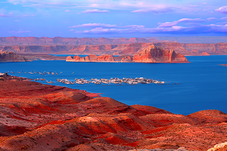Image of Lake Powell at Twillight